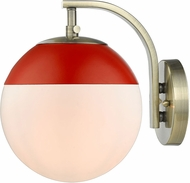 Golden Lighting 3218-1W-AB-RED Dixon Contemporary Aged Brass Lamp Sconce