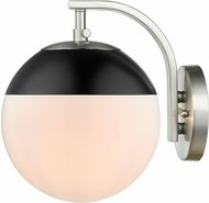 Golden Lighting 3218-1W-PW-BLK Dixon Contemporary Pewter Wall Mounted Lamp