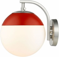 Golden Lighting 3218-1W-PW-RED Dixon Contemporary Pewter Wall Lighting Fixture
