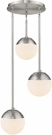 Golden Lighting 3218-3P-PW-PW Dixon Contemporary Pewter Multi Hanging Light