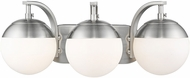 Golden Lighting 3218-BA3-PW-PW Dixon Modern Pewter 3-Light Bathroom Vanity Light