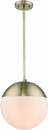 Golden Lighting 3218-L-AB-AB Dixon Contemporary Aged Brass Hanging Pendant Light