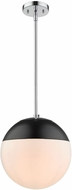 Golden Lighting 3218-L-CH-BLK Dixon Contemporary Chrome Drop Ceiling Lighting