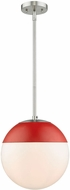 Golden Lighting 3218-L-PW-RED Dixon Contemporary Pewter Pendant Light