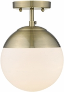 Golden Lighting 3218-SF-AB-AB Dixon Modern Aged Brass Home Ceiling Lighting