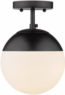 Golden Lighting 3218-SF-BLK-BLK Dixon Contemporary Matte Black Ceiling Light Fixture