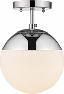 Golden Lighting 3218-SF-CH-CH Dixon Modern Chrome Overhead Lighting