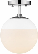 Golden Lighting 3218-SF-CH-WHT Dixon Contemporary Chrome / White Flush Ceiling Light Fixture