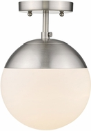 Golden Lighting 3218-SF-PW-PW Dixon Modern Pewter Overhead Light Fixture