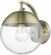 Golden Lighting 3219-1W-AB-AB Dixon Contemporary Aged Brass Wall Sconce Light