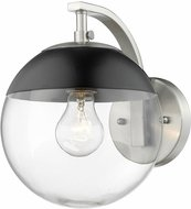 Golden Lighting 3219-1W-PW-BLK Dixon Contemporary Pewter Wall Sconce Lighting