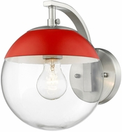 Golden Lighting 3219-1W-PW-RED Dixon Contemporary Pewter Lighting Wall Sconce