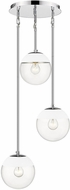 Golden Lighting 3219-3P-CH-WHT Dixon Contemporary Chrome / White Multi Hanging Lamp