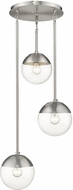Golden Lighting 3219-3P-PW-PW Dixon Modern Pewter Multi Pendant Lighting Fixture