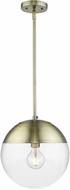 Golden Lighting 3219-L-AB-AB Dixon Contemporary Aged Brass Ceiling Pendant Light
