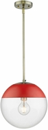 Golden Lighting 3219-L-AB-RED Dixon Contemporary Aged Brass Drop Lighting Fixture
