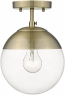 Golden Lighting 3219-SF-AB-AB Dixon Contemporary Aged Brass Ceiling Light