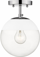 Golden Lighting 3219-SF-CH-WHT Dixon Modern Chrome / White Overhead Lighting Fixture