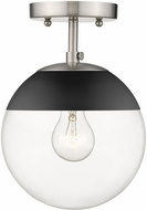 Golden Lighting 3219-SF-PW-BLK Dixon Contemporary Pewter / Black Ceiling Lighting