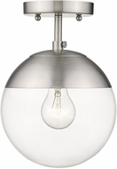 Golden Lighting 3219-SF-PW-PW Dixon Contemporary Pewter Ceiling Light Fixture