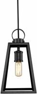 Golden Lighting 3239-M-BLK-BLK Abbott Contemporary Black Mini Hanging Light Fixture
