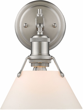 Golden Lighting 3306-BA1-PW-OP Orwell PW Contemporary Pewter Wall Lighting Sconce