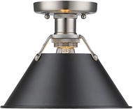 Golden Lighting 3306-FM-PW-BLK Orwell PW Modern Pewter Flush Lighting