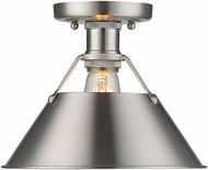 Golden Lighting 3306-FM-PW-PW Orwell PW Contemporary Pewter Flush Mount Lighting