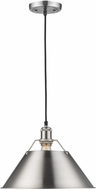 Golden Lighting 3306-L-PW-PW Orwell PW Contemporary Pewter Pendant Hanging Light