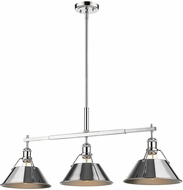 Golden Lighting 3306-LP-CH-CH Orwell Contemporary Chrome Island Light Fixture