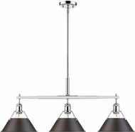 Golden Lighting 3306-LP-CH-RBZ Orwell Contemporary Chrome Island Lighting