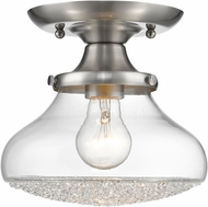Golden Lighting 3417-SF PW-CC Asha Pewter Flush Mount Lighting Fixture
