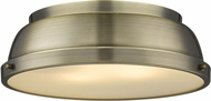 Golden Lighting 3602-14-AB-AB Duncan AB Modern Aged Brass Overhead Lighting