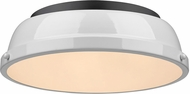 Golden Lighting 3602-14-BLK-WH Duncan Modern Black Overhead Lighting