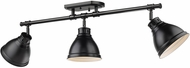 Golden Lighting 3602-3SF-BLK-BLK Duncan Contemporary Black Track Lighting Fixture