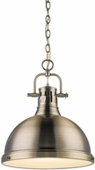 Golden Lighting 3602-L-AB-AB Duncan Modern Aged Brass Hanging Light