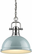 Golden Lighting 3602-L-CH-SF Duncan Modern Chrome Drop Ceiling Lighting