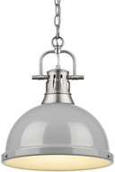 Golden Lighting 3602-L-PW-GY Duncan Contemporary Pewter Drop Lighting Fixture