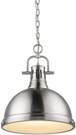 Golden Lighting 3602-L-PW-PW Duncan Modern Pewter Drop Lighting Fixture