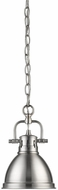 Golden Lighting 3602-M1L-PW-PW Duncan Contemporary Pewter Mini Drop Lighting