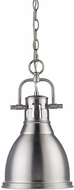 Golden Lighting 3602-S-PW-PW Duncan Modern Pewter Small Hanging Light Fixture