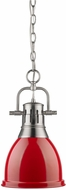 Golden Lighting 3602-S-PW-RD Duncan Contemporary Pewter Small Drop Lighting