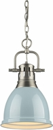 Golden Lighting 3602-S-PW-SF Duncan Modern Pewter Small Drop Ceiling Lighting
