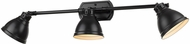 Golden Lighting 3602-VL3-BLK-BLK Duncan Modern Black 3-Light Bathroom Vanity Light Fixture