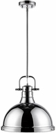 Golden Lighting 3604-L-CH-CH Duncan Contemporary Chrome Pendant Lighting
