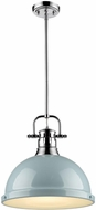 Golden Lighting 3604-L-CH-SF Duncan Contemporary Chrome Lighting Pendant