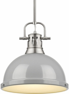 Golden Lighting 3604-L-PW-GY Duncan Contemporary Pewter Hanging Light Fixture