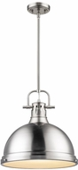Golden Lighting 3604-L-PW-PW Duncan Contemporary Pewter Pendant Light Fixture