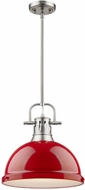 Golden Lighting 3604-L-PW-RD Duncan Modern Pewter Pendant Lighting Fixture