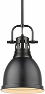 Golden Lighting 3604-S-BLK-BLK Duncan Contemporary Black Mini Drop Lighting Fixture